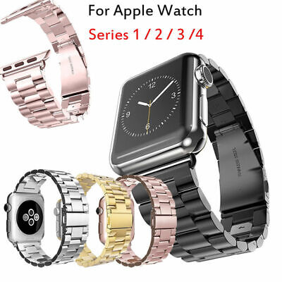 For Apple Watch iWatch Serie 5 4 Stainless Steel Strap 38/42/40/44mm Watch Band