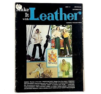 1978 Make It With Leather Vintage Magazine Craft Guide Book Formerly Craftsman