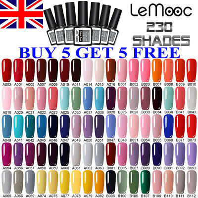 LEMOOC UV Nail Gel Polish Soak Off LED Colour Decors Base Top Matte Coat 8ml