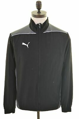 PUMA Mens Tracksuit Top Jacket Small Black Polyester  LZ02