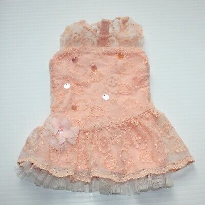 American Girl Shimmer & Lace Party Dress Peach Easter Spring For Doll Only