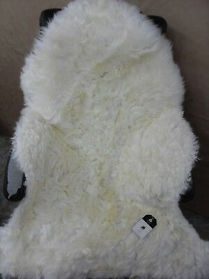Sheepskin rug extra extra large rustic texture wool