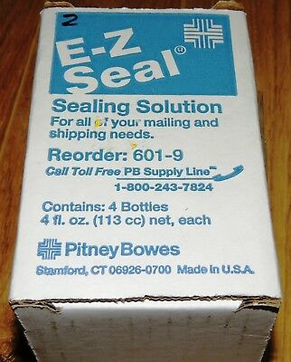 E-Z Seal Sealing Solution 4-4Oz Bottles Pitney Bowes Usa 601-9