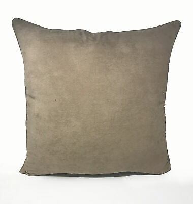 Suede Beige Euro Continental 55cm x 55cm Cushion with Bounce Back Filling