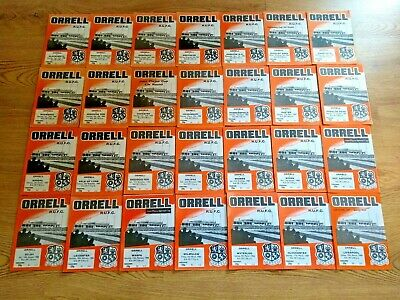 Orrell Rugby Union Programmes 1982 - 1988