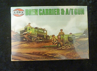 Airfix WW2 Bren Carrier & A/T Gun 00 Scale Model Kit SEALED