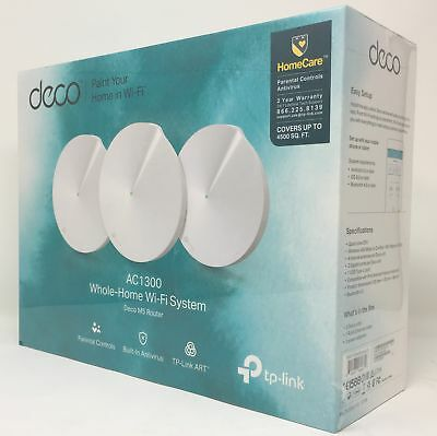 TP-Link Deco M5 AC1300 MU-MIMO Dual-Band Whole Home Wi-Fi System (3-Pack)