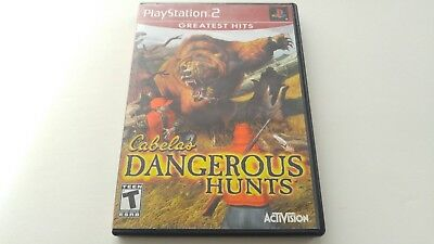 Cabela's Dangerous Hunts (PlayStation 2, 2003) Complete Greatest Hits Acceptable