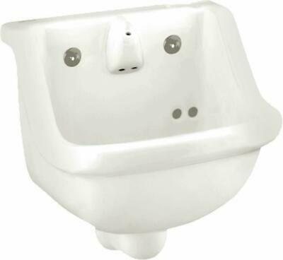 "American Standard 0421.018 Prison 14"" Wall Mounted Porcelain Bathroom Sink 14"""