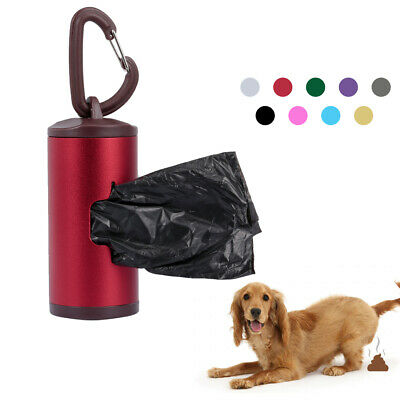 Colorful Pet Poop Holder Dog Waste Dispenser Aluminum Alloy Tube Includes U7M2