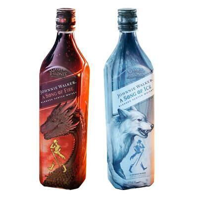 Johnnie Walker A Song of Fire & Ice Set Scotch Whisky Game of Thrones 2 x 700 ml