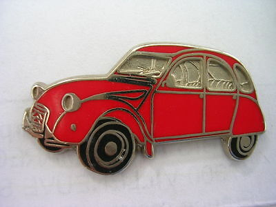 Pin's Voiture 2Cv Citroen Rouge  /  Emaillee   /  Superbe