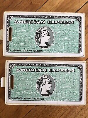 American Express Luggage Tags Vintage Lot of 2