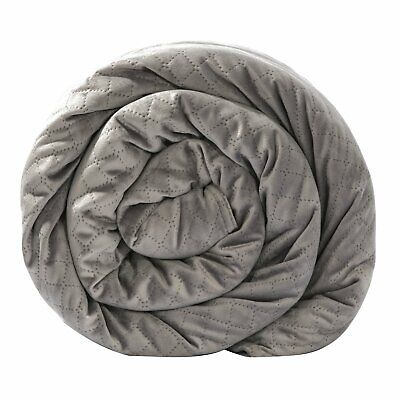 BlanQuil Quilted Weighted Blanket Gray 20lb Removable Cover- 5927