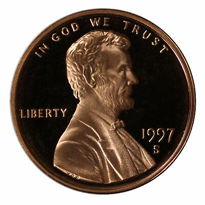 1997 -S Lincoln Memorial Cent Gem Proof Single Coin