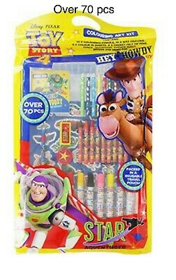 70 Over Mix Toy Story 4 Colouring  Pencils Art Kit Eraser Memo Pad, And Sticker