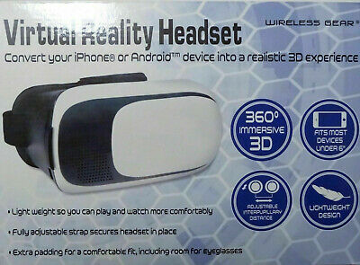 Virtual Reality Headset By Wireless Gear (New In Box)