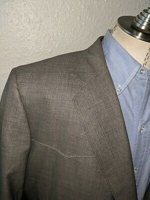 56S Bespoke CUSTOM Western Pin Dots canvassed Suit Sport Coat Blazer Jacket
