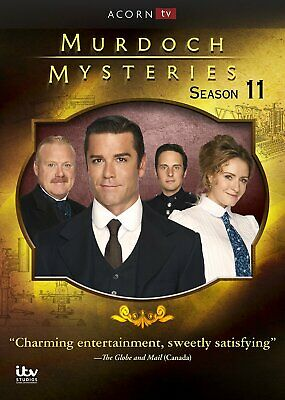 Murdoch Mysteries: Season 11 Eleven (DVD, 2018, 5-Disc Set) Ships 1st Class, NEW