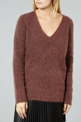 Elle Acrylic Solid Reg Size Orchid Cowl Neck Sweater SR $54 NEW
