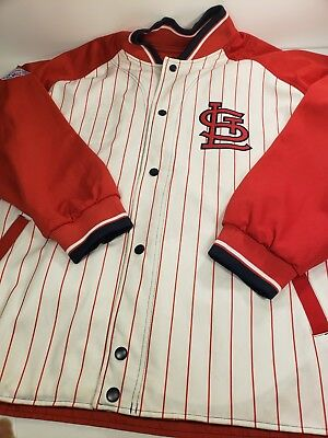 St. Louis Cardinals Jacket Size XL Reversible Double Sided see pics Baseball.