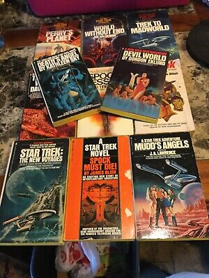 Vintage Lot 11 Star Trek PB Books Star Trek Experience, Spock Must Die, Mudd