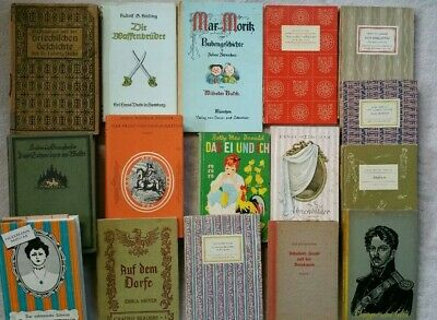 Lot Of 16 Small Old German Books - 1911- 1955 ~ Decorative Covers