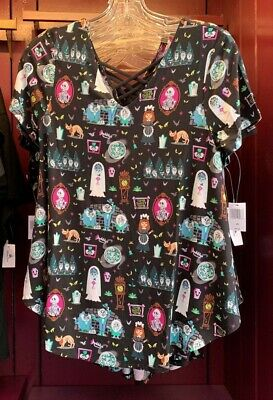 Disney Parks Haunted Mansion 999 Happy Haunts Woman's Top Size Small New