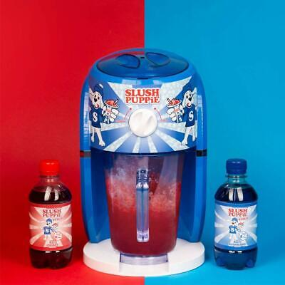 Tasty Slush Puppie Slushie Machine Set Blue Raspberry Syrup, Red Cherry Syrup