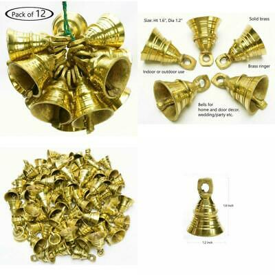 Elephant Cow Camel Bells Vintage Style Indian Brass  Bell Decorations 12 pcs