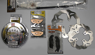 Galfer Complete Brake Kit Honda Grom: Rotors, Pads, Brake Lines  Kit 892