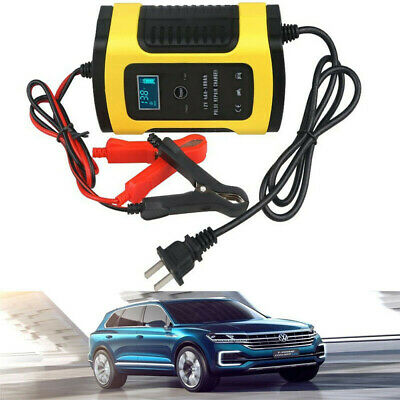 Car battery charger 12V 6A Pulse Repair Automatic Maintainer LCD Auto Trickle