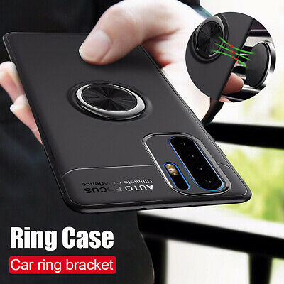 For Huawei P30 P20 Pro P10 Lite Shockproof Magnetic Metal Ring Holder Case Cover