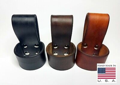 Leather Ax Belt Holder Holster Axe Belt Loop Handmade in USA Top Grade Leather
