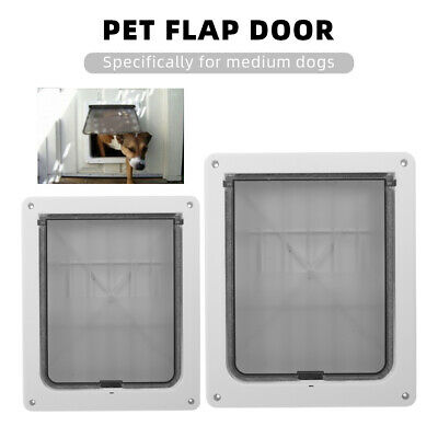 Pet Dog Door Safe Ferromagnetic Wall Entry Locking Automatically Close for Q5I5