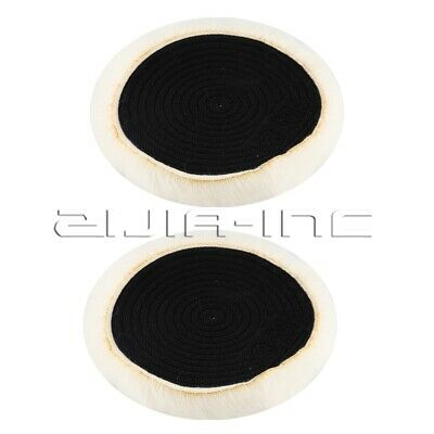 Wool Buffing Pad Soft and Durable 6 Inch 15cm Diameter for Cleaning 2 Pcs