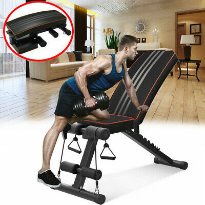 Weight Bench Adjustable Workout Exercise Flat Incline Decline Abs Sit Up Benches