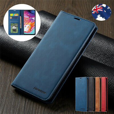 For Samsung Galaxy A20 A30 A50 A70 Magnetic Leather Wallet Case Card Flip Cover