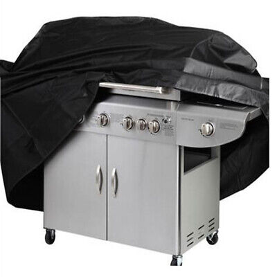 Black BBQ Cover Heavy Duty Waterproof Rain Barbeque Grill Gas Garden Protector L