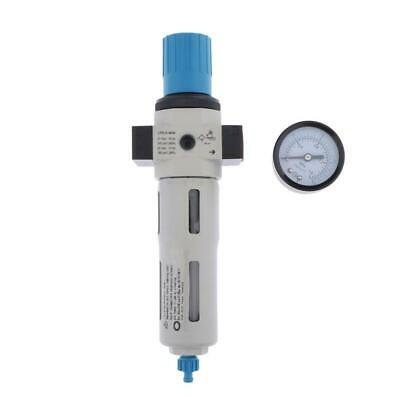 "FRC-MINI-03 3/8"" Air Filter Regulator w Gauge Leak-free Oil Water Separator"