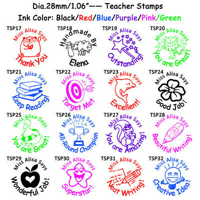 Custom Stamper Seal Self Pre Inking Teacher School Student Comment Stamp Round