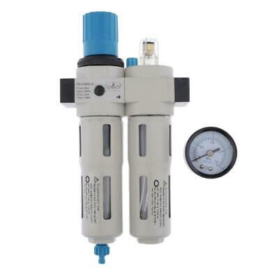 "FRC-MINI-03 3/8"" Air Compressor Filter Regulator w Gauge 1200L/Min(max)"
