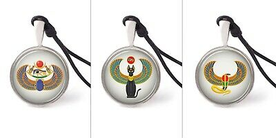 Egyptian Style Necklace Pendants Pewter Silver Jewelry Jewelry JNP