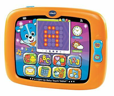 NEW! VTECH Light-Up Baby Touch Friendly Tablet, Orange