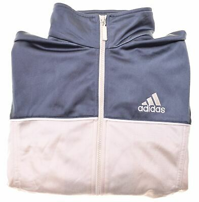 ADIDAS Boys Tracksuit Top Jacket 15-16 Years Beige Polyester  CC20