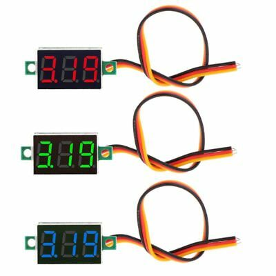 "0.36"" 0-100V DC 3 bits 3 wires Digital Voltmeter LED Display Panel Voltage Meter"