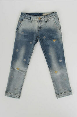 DIESEL KIDS girls Jeans Embroidered Jeans Blue