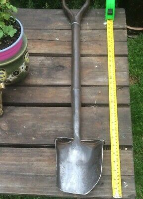 """antique spade for Tree Planting - Stainless Steel 34"""" long original old item."""