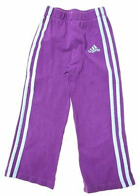 ADIDAS Girls Tracksuit Trousers 2-3 Years W14 L13 Purple Cotton  M101