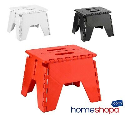 Small Folding Step Stool Strong Multi Purpose Easy Storage Plastic Home Kitchen